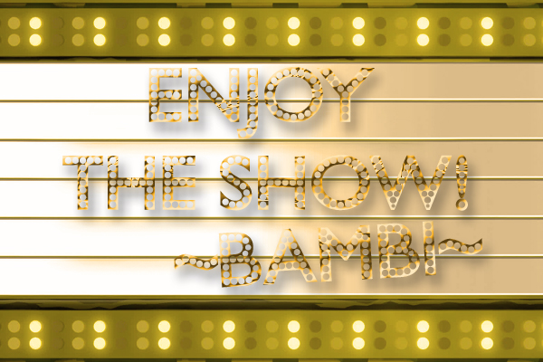 Enjoy The Show Marquee