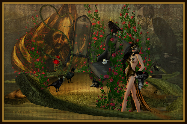 """Poe's Secret Garden"" by Bambi Chicque"