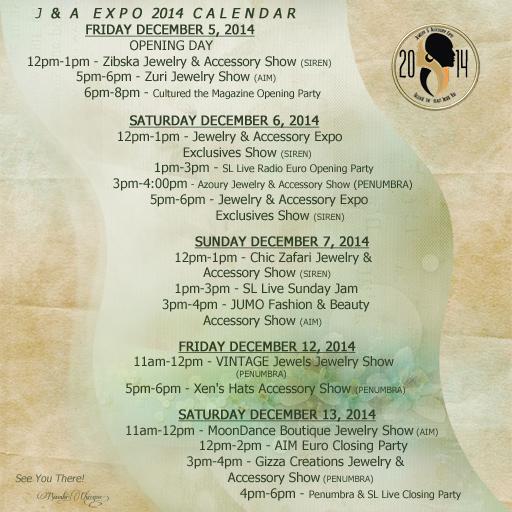 J&A Expo 2014 CALENDAR