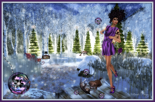 """Delights At Christmas Pond"" by Bambi Chicque"