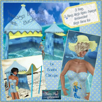 BC~Vintage Beach Mirth Buckaroo Gal AD1