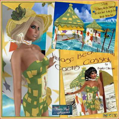 BC~Vintage Beach Mirth Cactus Cassidy AD1
