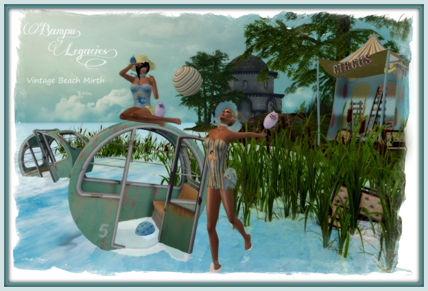 """""""Vintage Beach Mirth"""" by Bambi Chicque"""