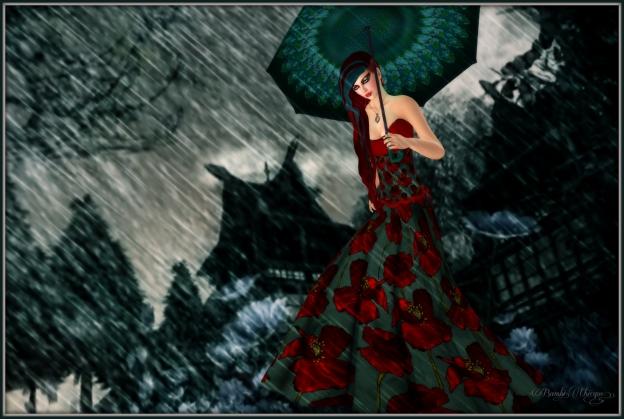 """Rain In Joyful Poppies"" by Bambi Chicque"
