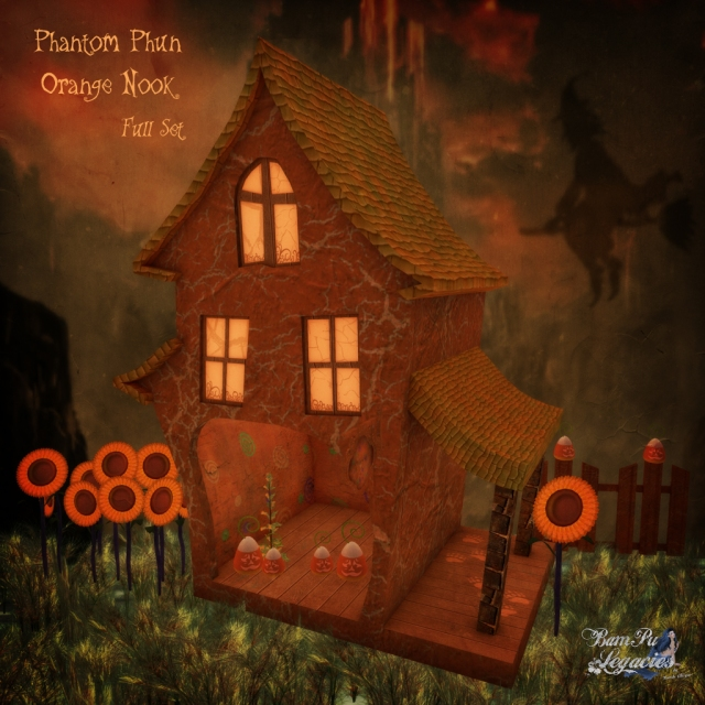 """Phantom Phun Orange Nook Full"" by Bambi Chicque"