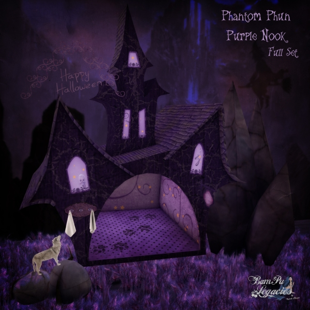 """Phantom Phun Purple Nook Full Set"" by Bambi Chicque"
