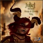 BC~Juliet Brocade Horns & Crown MerlotAD