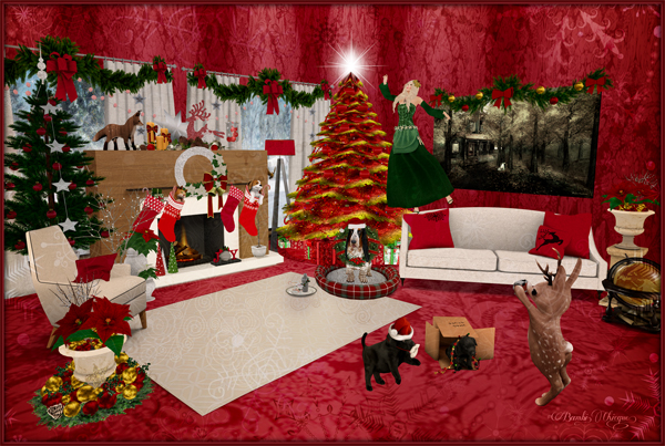 """Home For The Holidays"" in Red by Bambi Chicque"