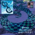 Whoville Blue Checkered SwirlyPath