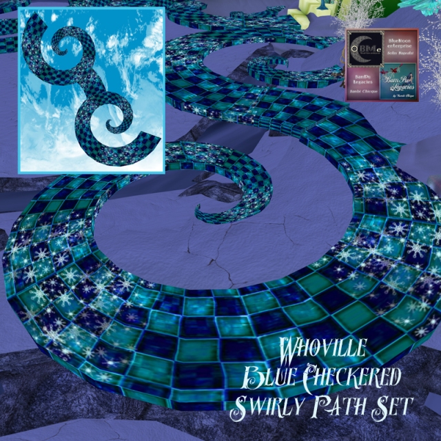 Whoville Blue Checkered Swirly Path by BamPu Legacies & BlueMoon Enterprise