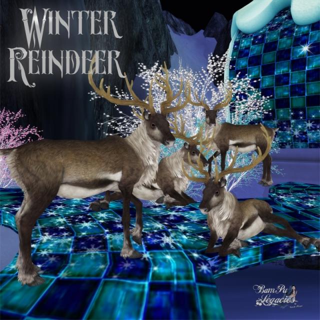 Winter Reindeer Full Set by Bambi Chicque
