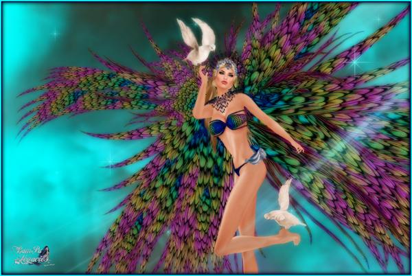 """Morara Majestic Angel "" by Bambi Chicque"