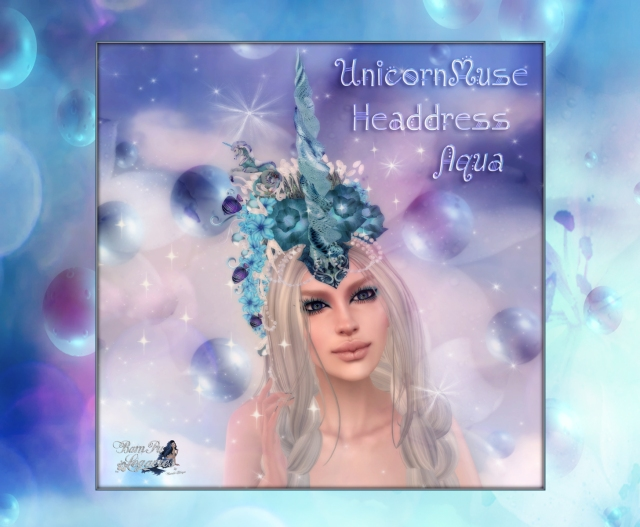 Unicorn Muse Aqua Headdress AD