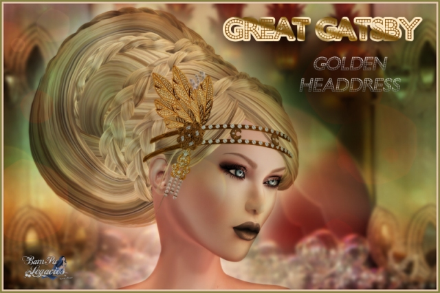 """Great Gatsby Golden Headdress"" by Bambi Chicque"