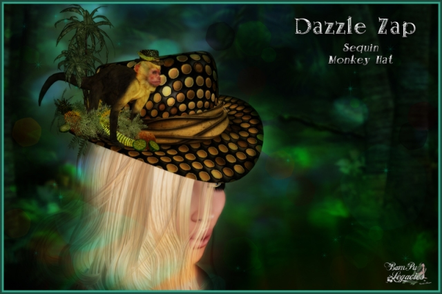 """Dazzle Zap Sequin Monkey Hat"" by Bambi Chicque"
