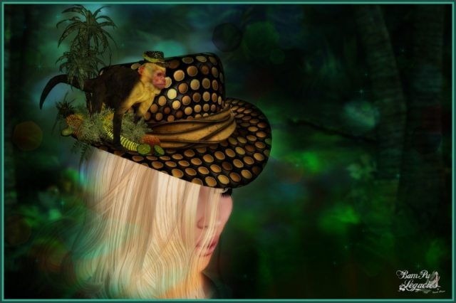 """""""Dazzle Zap Sequin Monkey Hat"""" by Bambi Chicque"""