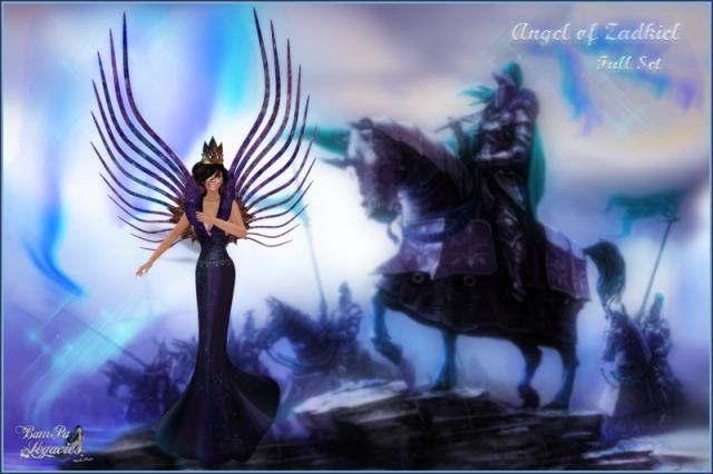 Angel of Zadkiel Purple Gown Full Set