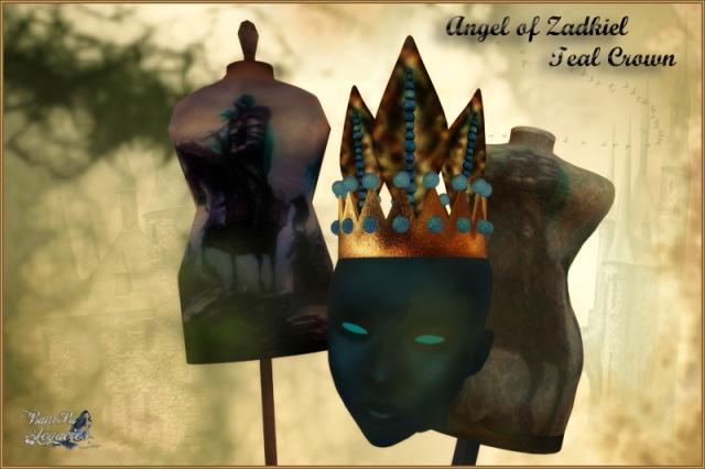 Angel of Zadkiel Teal-Gold Crown FP-Gift