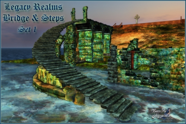 SET 1 Legacy Realms Ruins Bridge & Steps