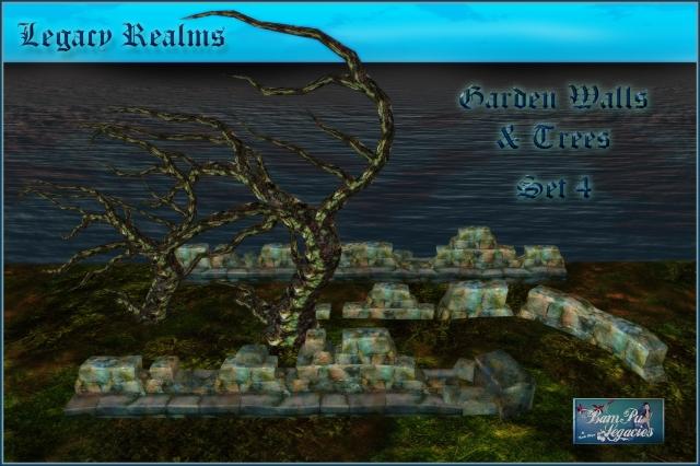 SET 4 Legacy Realms Garden Walls & Trees