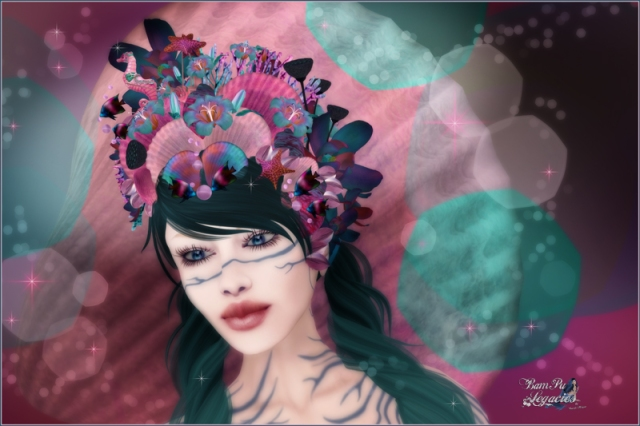 Songs Of The Sea Headdress by Bambi Chicque
