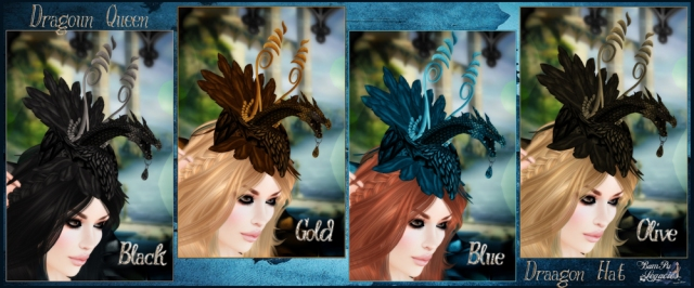 Dragoun Queen Dragon Hat 4 Colors