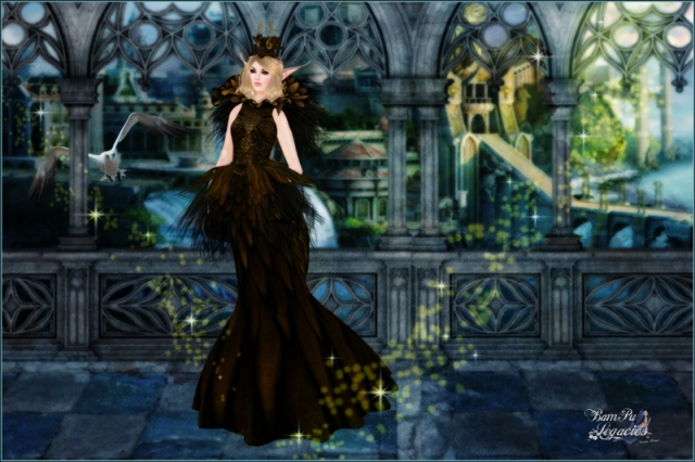 """Dragoun Queen Unveiled"" by Bambi Chicque ~ Dragoun Queen Gold Gown ~ RFL!"