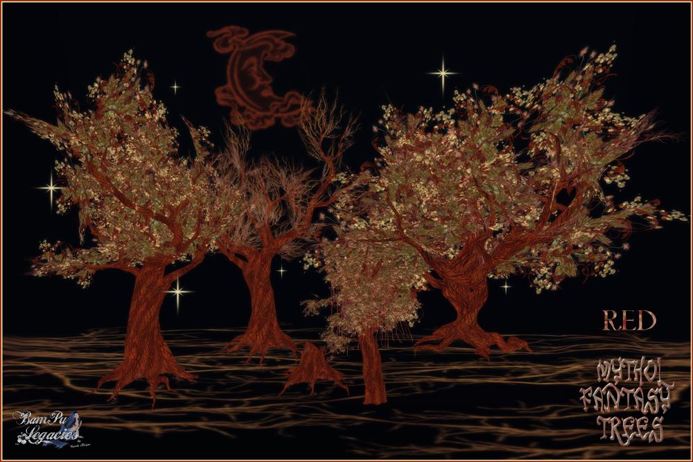 Mythol Fantasy Trees & Stump Red