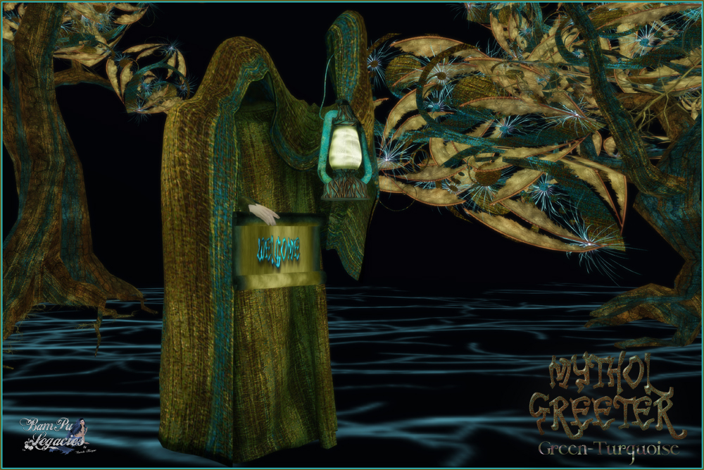 Mythol Greeter Green-Turquoise by BamPu Legacies